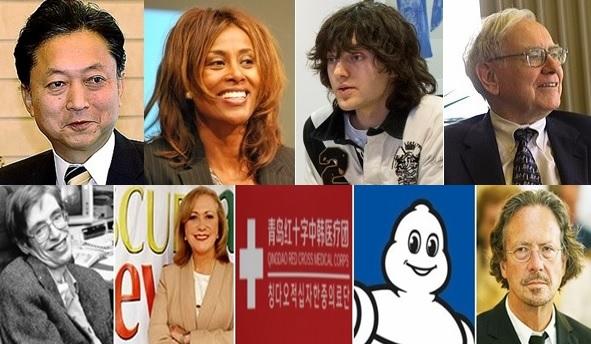 세계연맹(WFPL), 'WIC AWARDS' 수상자 '하토야마•워렌 버핏•스티븐 호킹 등 9인 발표